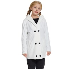 Kids  Double Breasted Button Coat