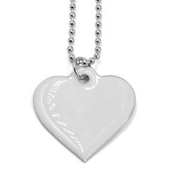 Dog Tag Heart (One Side)